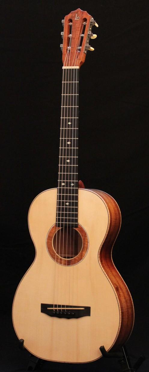 Handmade Koa Parlor Guitar - Lichty Guitars, for sale