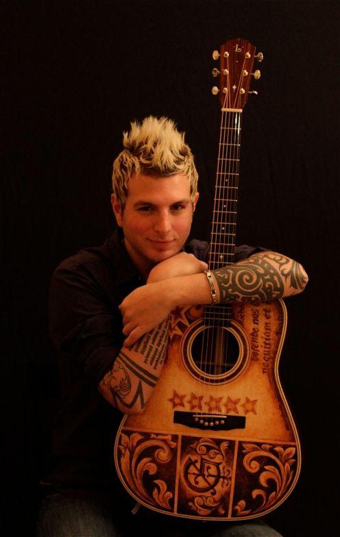 Mike Gossin Custom Lichty Guitar, artwork by Clark Hipolito