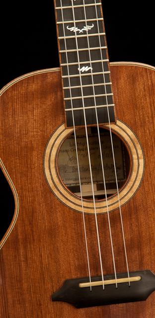 Custom Brazilian Rosewood Curly Redwood Ukulele - T16
