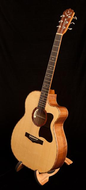 Custom Handcrafted Sapele Cutaway OM Guitar, Lichty Guitars